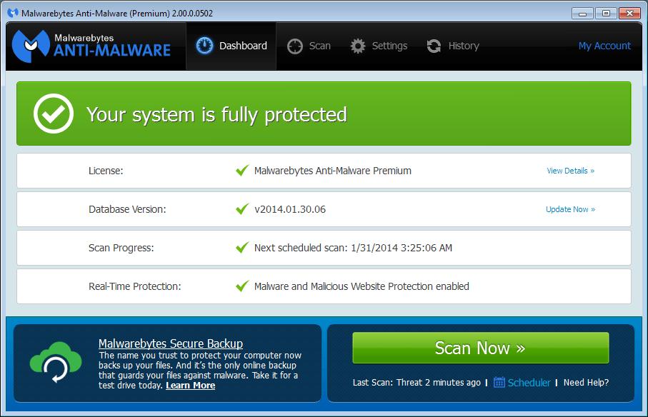 Malwarebytes 4.1.1 premium License key FREE + Crack 2020